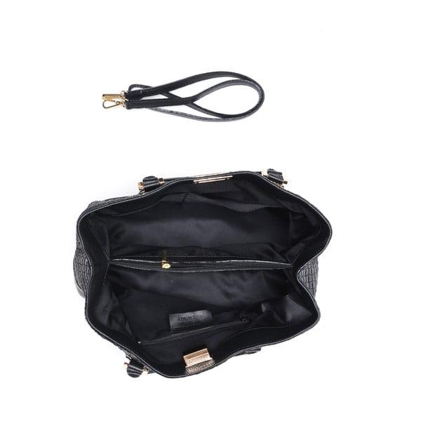 Kožená kabelka Coge, černá