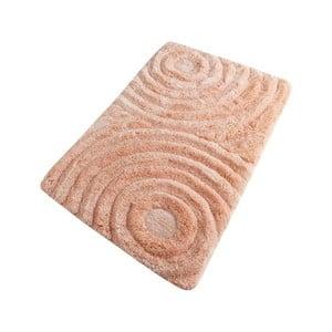 Lososová koupelnová předložka Confetti Bathmats Wave Somon, 60 x 100 cm