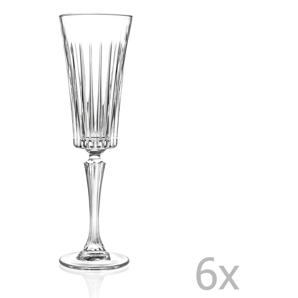Sada 6 sklenic na sekt RCR Cristalleria Italiana Edvige