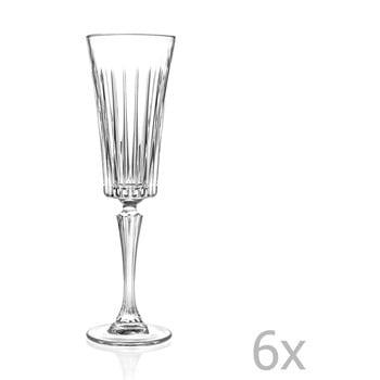 Set 6 pahare pentru vin spumant RCR Cristalleria Italiana Edvige, 210 ml de la RCR Cristalleria Italiana