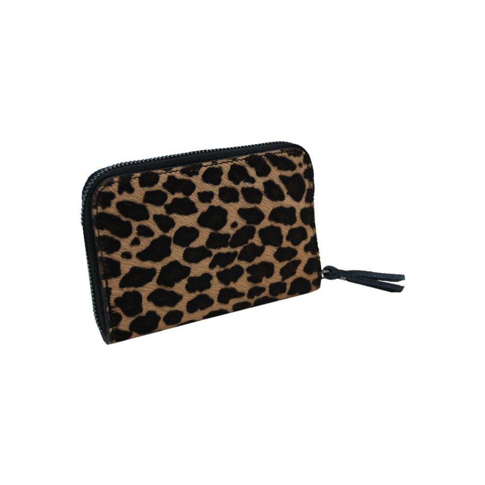 Peněženka z pravé hovězí kůže se vzorem Andrea Cardone Leopard S