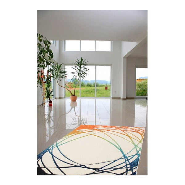 Koberec Lifestyle 111 white/orange, 80x150 cm