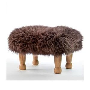 Stolička z ovčí kůže Angharad Mink