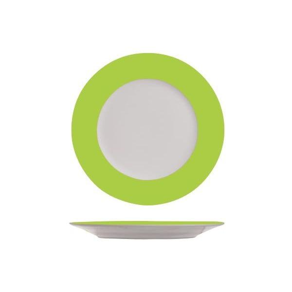 Set čtyř dezertních talířků, 19 cm, zelená