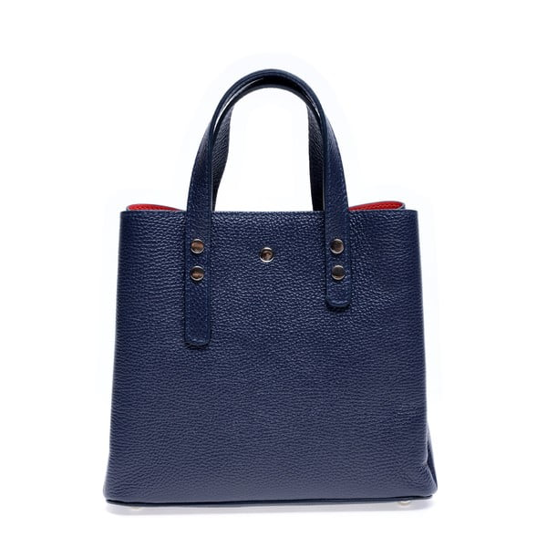 Modrá kožená kabelka Roberta M Galilea