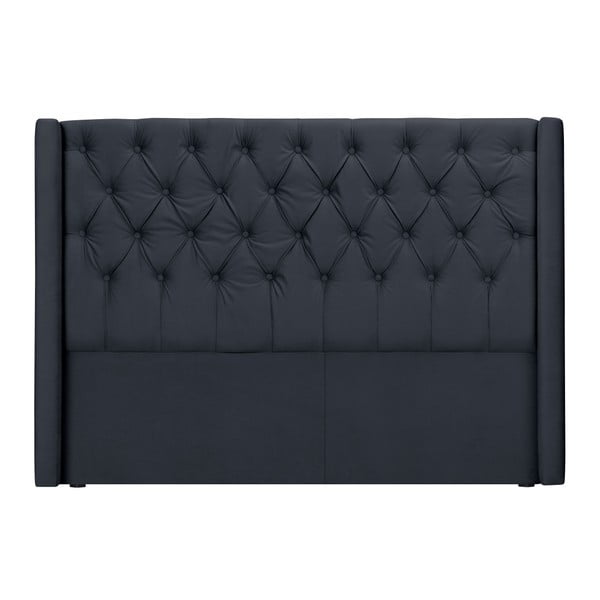 Šedé čelo postele Windsor & Co Sofas Queen, 216 x 120 cm