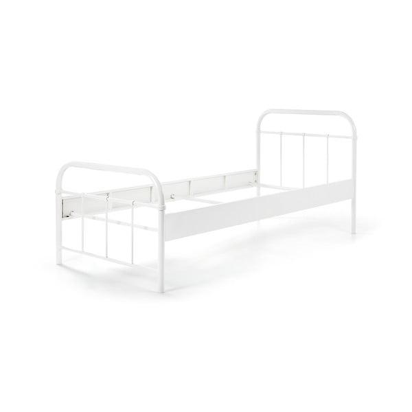 Białe metalowe łóżko dziecięce Vipack Boston, 90x200 cm