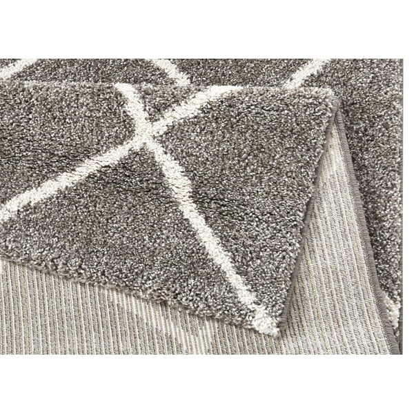 Hnědý koberec Mint Rugs Grid, 160x230cm