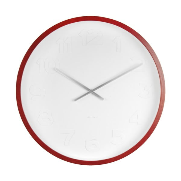 Nástěnné hodiny Present Time Mr Woody Numbers