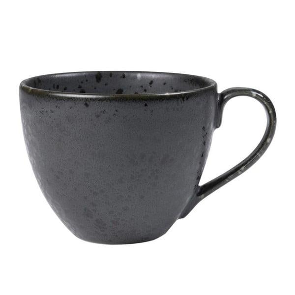 Čierna kameninová šálka na čaj Bitz Mensa, 460 ml