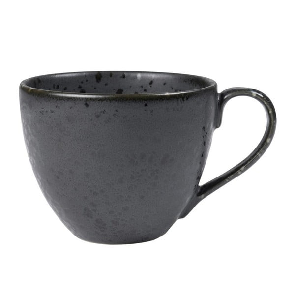 Ceașcă din gresie ceramică Bitz Mensa, 460 ml, negru