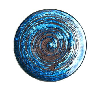 Farfurie din ceramică MIJ Copper Swirl, ø29 cm, albastru