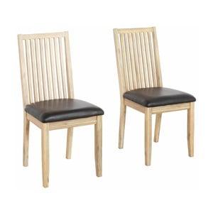 Sada 2 jídelních židlí z masivního akáciového dřeva Støraa Mio