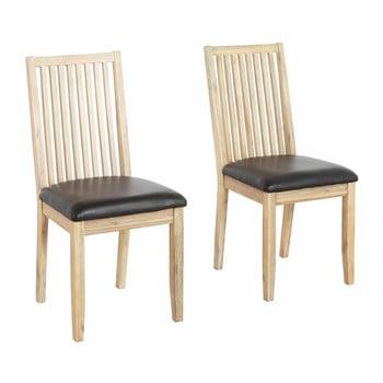 Set 2 scaune din lemn masiv de salcâm Støraa Mio
