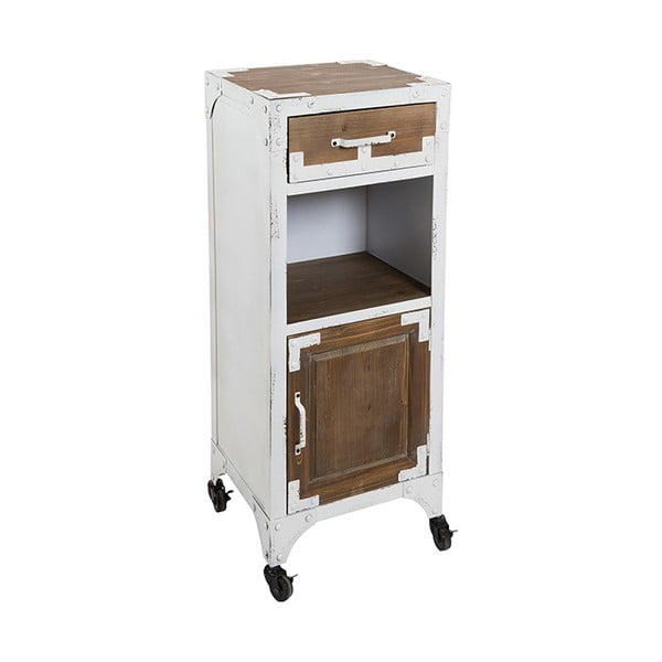 Pojízdný stolek s úložným prostorem a detaily z jedlového dřeva SSantiago Pons Vintage