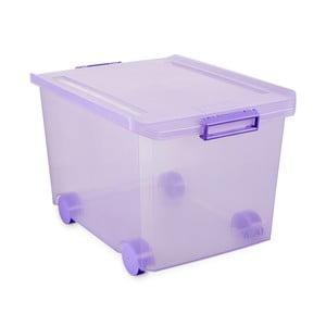 Fialový úložný box na kolečkách s víkem Ta-Tay Storage Box, 60 l