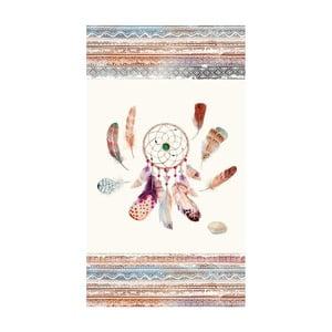Plážová osuška s potiskem Good Morning Feathers, 100 x 180 cm