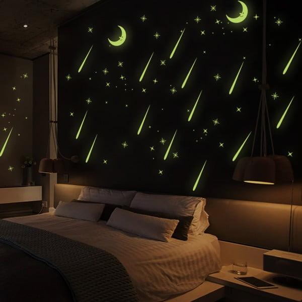 Samolepka svítící ve tmě Ambiance Falling Stars