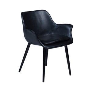 Černá jídelní židle s područkami DAN–FORM Combino