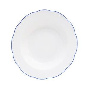 Bílý porcelánový hluboký talíř Orion Blue Line, ⌀21cm