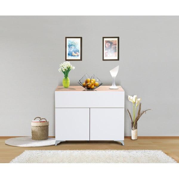 Sada 3 úložných komod Decoflex Table, bílá/samba