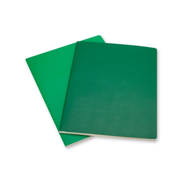 Sada 2 zelených notesů Moleskine Volant, linkované