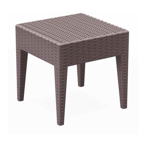 Čokoládovohnedý záhradný odkladací stôl Resol Ipanema, 45 × 45 cm