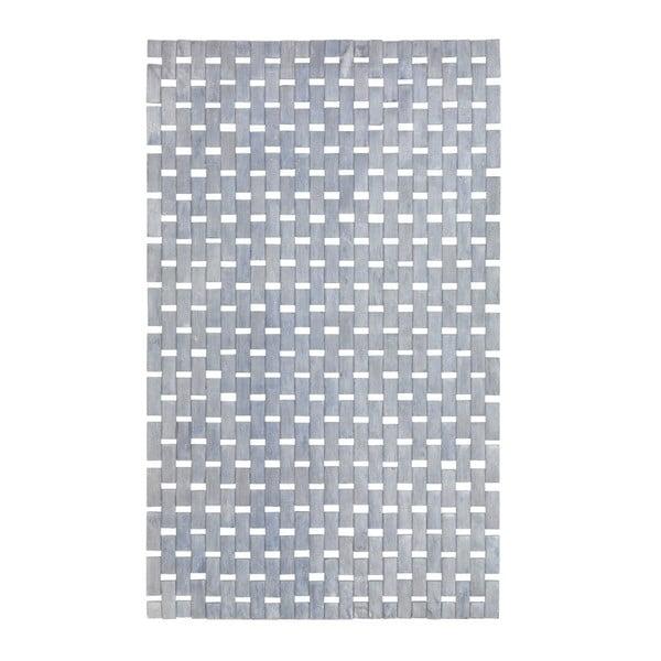 Světle šedá koupelnová předložka z bambusu Wenko Thea, 80x50cm
