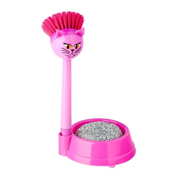 Sada na mytí nádobí Vigar Pink Cat