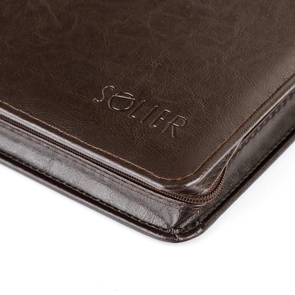 Organizér v deskách Solier ST01, hnědá