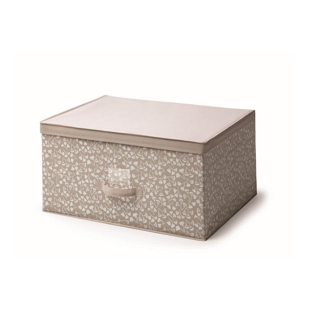 Hnědý úložný box s víkem Cosatto Bocquet, šířka 60 cm