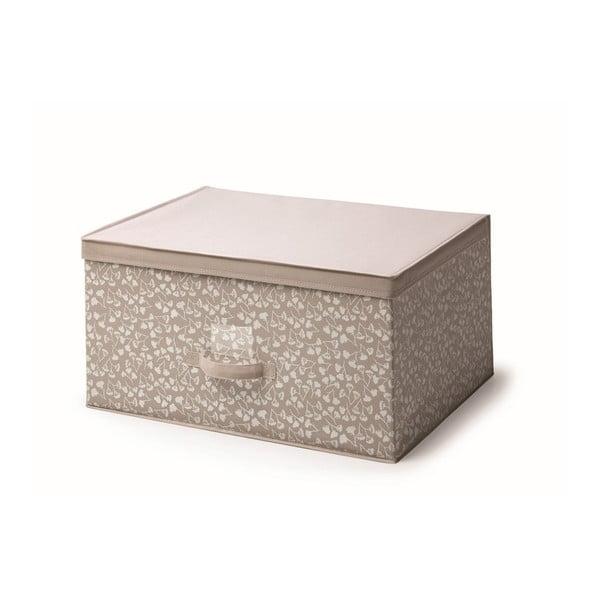 Hnědý úložný box s víkem Cosatto Bocquet, šířka60cm