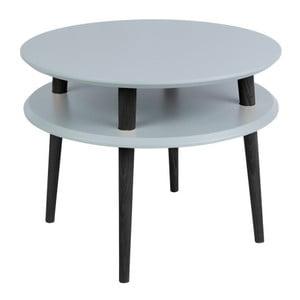 Tmavě šedý konferenční stolek s černými nohami Ragaba UFO, Ø57cm
