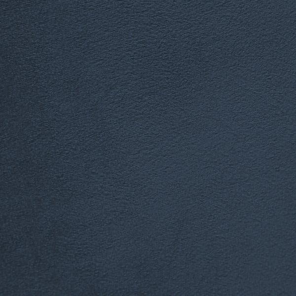 Tmavě modré křeslo a podnožka s podnoží v černé barvě Vivonita Cora Velvet