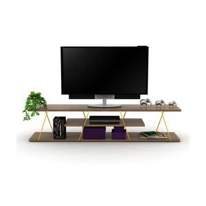 TV stolek se žlutým detailem Rafevi Tars