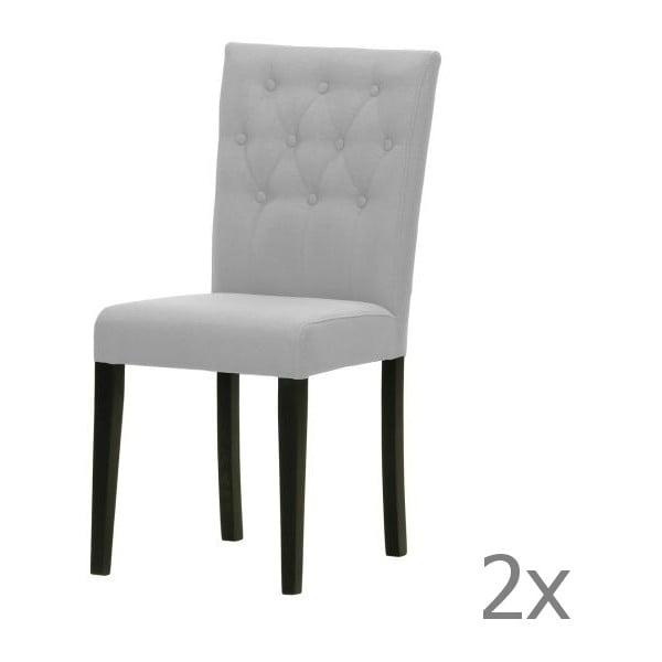 Sada 2 židlí Monako Etna Grey, černé nohy