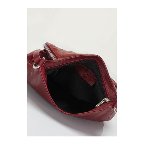 Kožená kabelka Markese 6949 Bordo