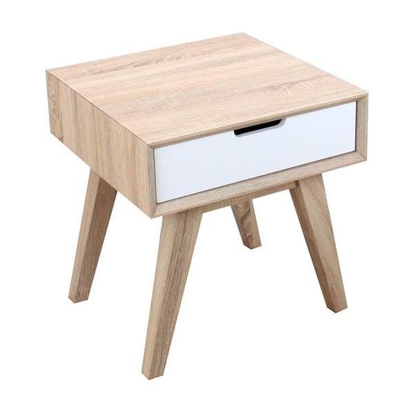 Noční stolek se zásuvkou French Modern, 50x50x55 cm
