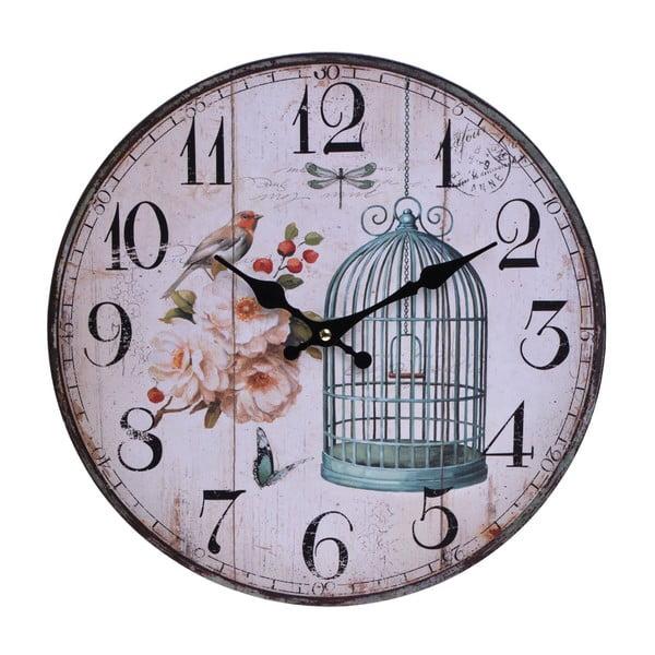 Nástěnné hodiny Vintage Cage, 33,8 cm