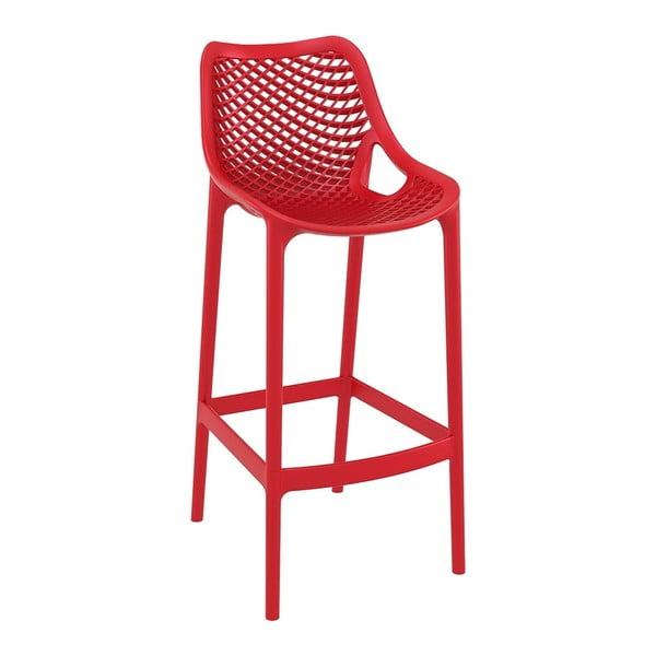 Sada 4 červených barových židlí Resol Grid Simple, výška 75 cm