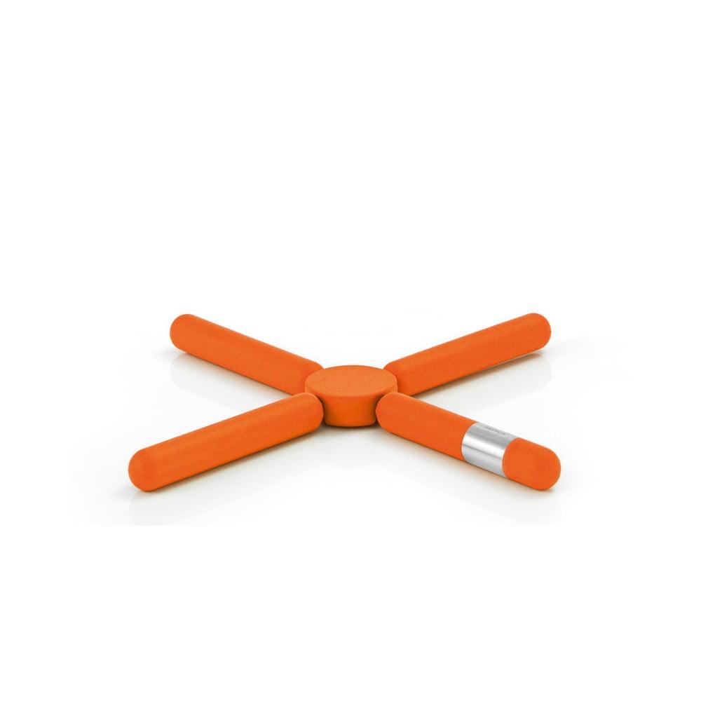 Oranžová skládací podložka pod horké nádoby Blomus Knik