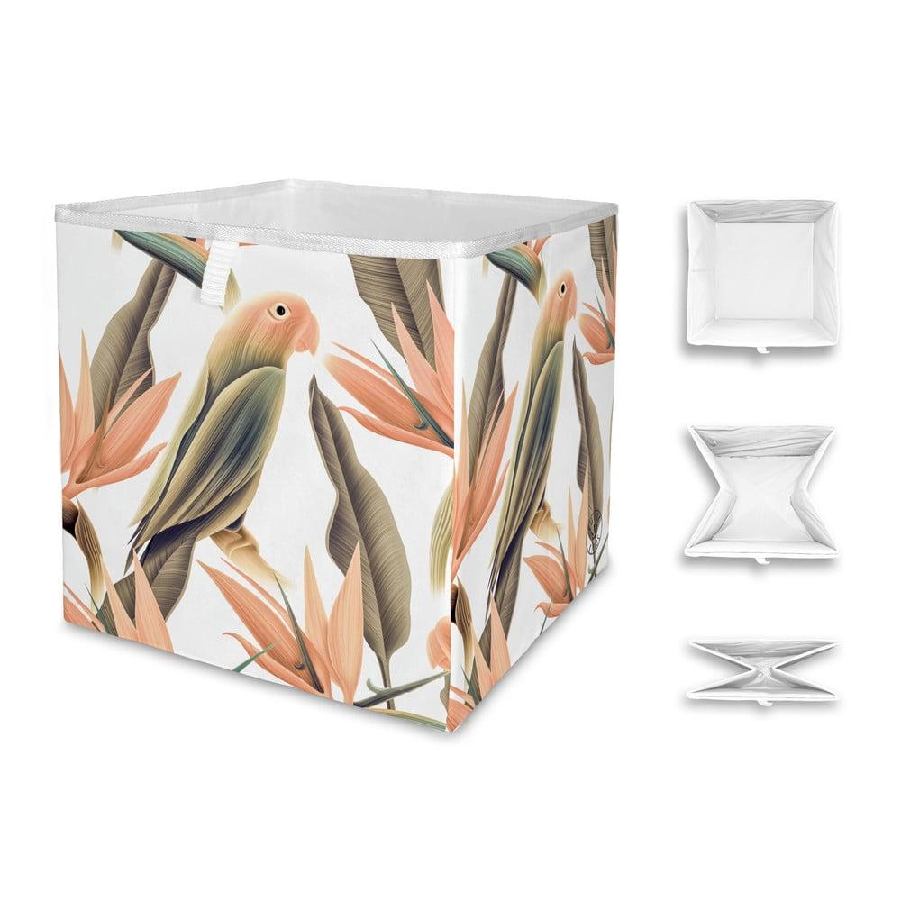 Úložný box Butter Kings Orange Parrot, 32 x 32 cm