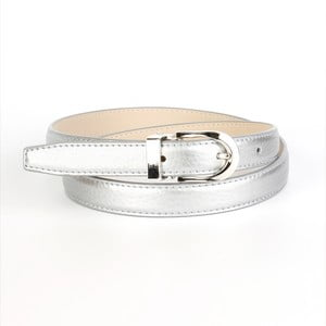 Dámský kožený pásek 13TS Silver, 80 cm
