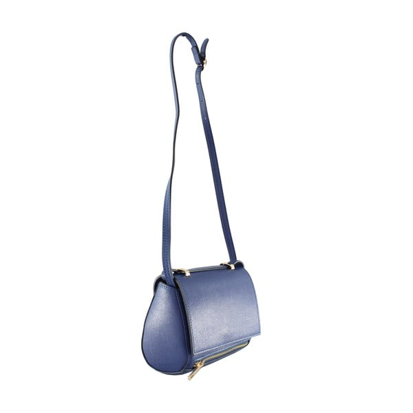 Kožená taška přes rameno Sonja, modrá