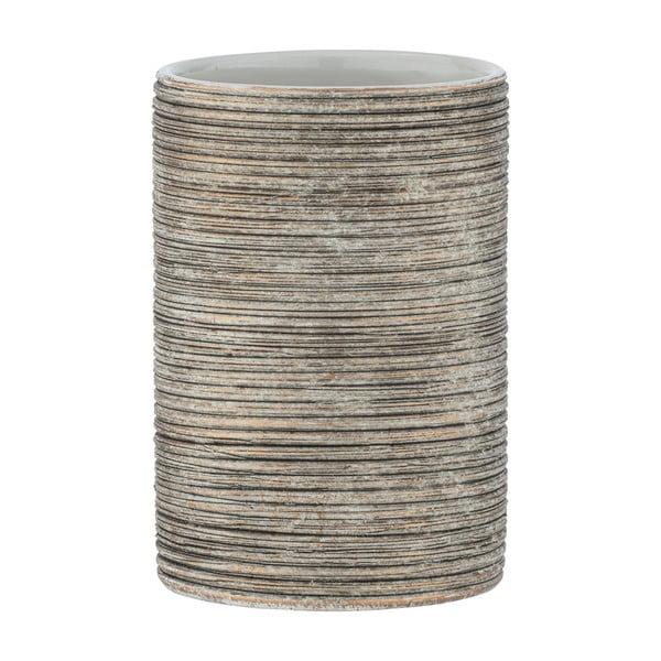 Suport ceramică pentru periuțe de dinți Wenko Fedio, maro