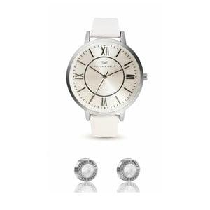 Set dámských hodinek s řemínkem z chirurgické oceli a náušnic Victoria Walls Studo