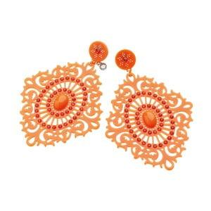 Oranžové náušnice Ottaviani Hippie, délka 10 cm