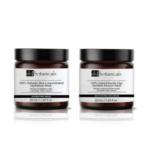 Set 2 măști Dr. Botanicals Natural Kaolin And Ultra Concentrated Hydration