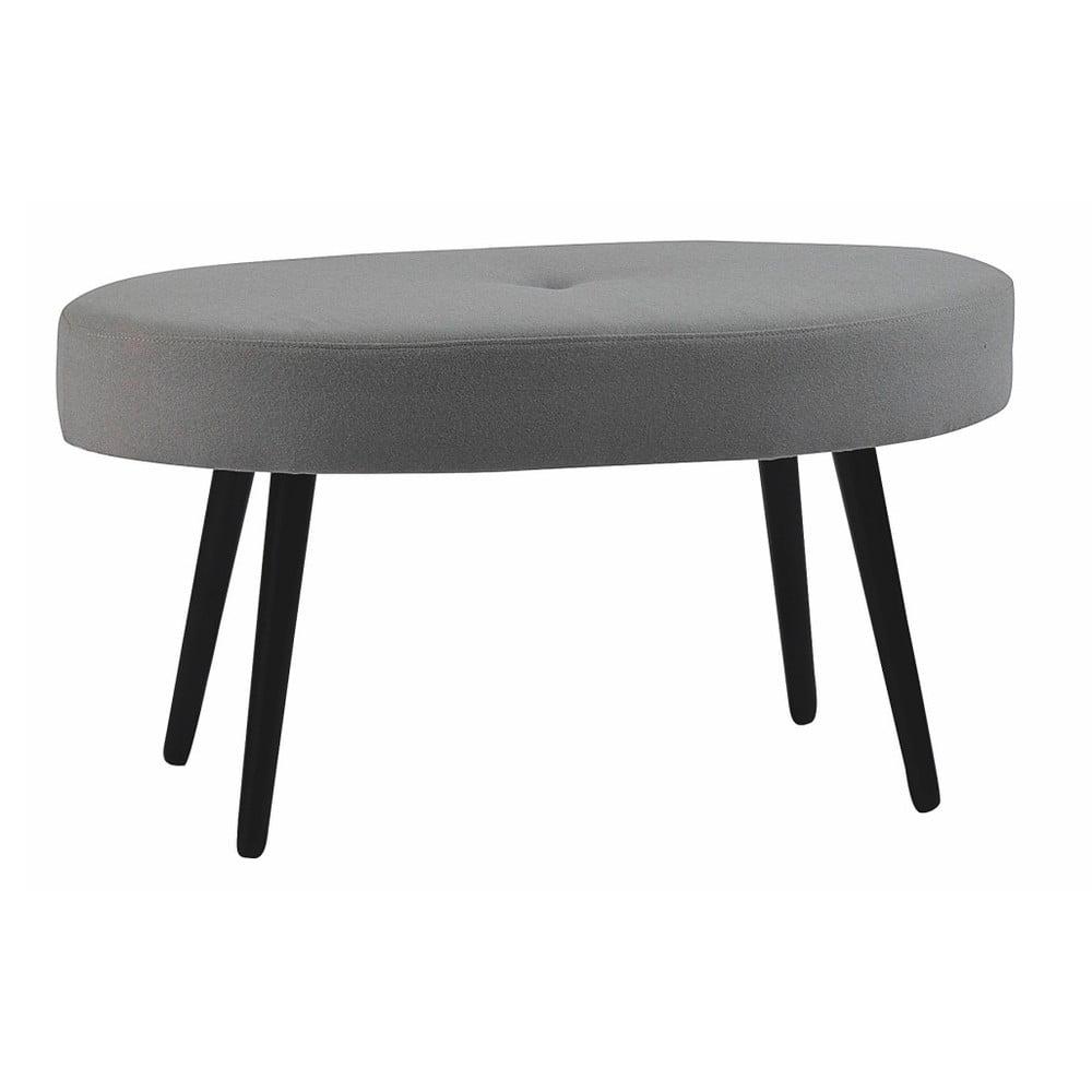 Šedá oválná dubová stolička Folke Hermod