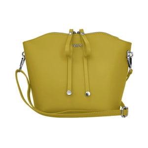 Žlutá kožená kabelka Lampoo Kalina